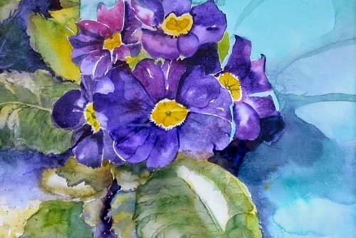 Stephanie Zobrist, Primeln, Plants: Flowers, Times: Spring, Naturalism