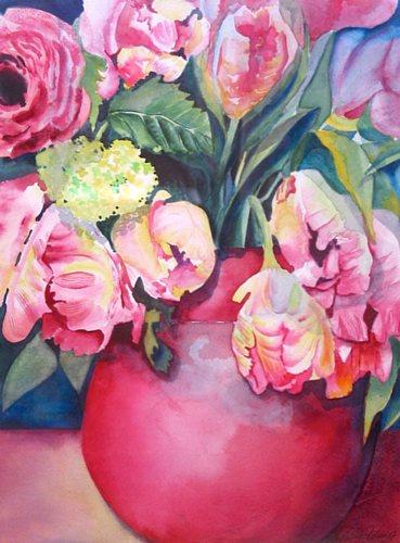 Stephanie Zobrist, Frühlingsblumen, Plants: Flowers, Times: Spring, Naturalism