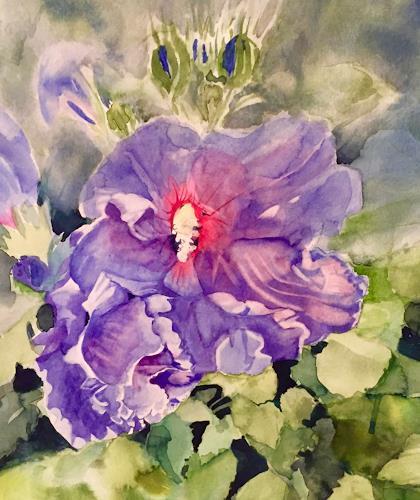 Stephanie Zobrist, Hibiskus, Landscapes: Spring, Plants: Flowers, Naturalism