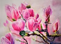 Stephanie-Zobrist-Plants-Flowers-Decorative-Art-Modern-Times-Realism
