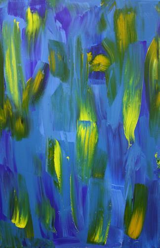 Ralf H. G. Schumacher, Blaue Lilien, Plants: Flowers, Abstract art