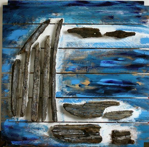 Ralf H. G. Schumacher, Strandgut II, Landscapes: Sea/Ocean, Landscapes: Beaches, Contemporary Art
