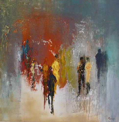 Soraya Hamzavi-Luyeh, Warm und Kalt, Abstract art, People, Abstract Art