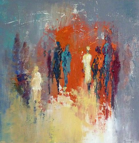 Soraya Hamzavi-Luyeh, Kalt und Warm 2, Abstract art, Abstract Art, Expressionism