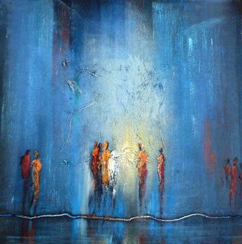 Soraya Hamzavi-Luyeh, Lichtstrahl, Abstract art, Abstract Art