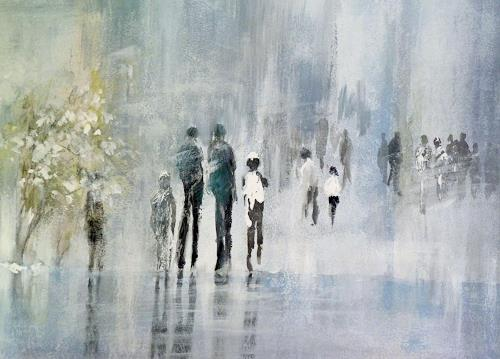 Soraya Hamzavi-Luyeh, Ein Wintertag, People, Abstract art, Abstract Art, Expressionism
