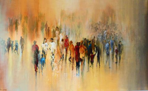 Soraya Hamzavi-Luyeh, Besammlung, Abstract art, People: Group, Abstract Art, Expressionism