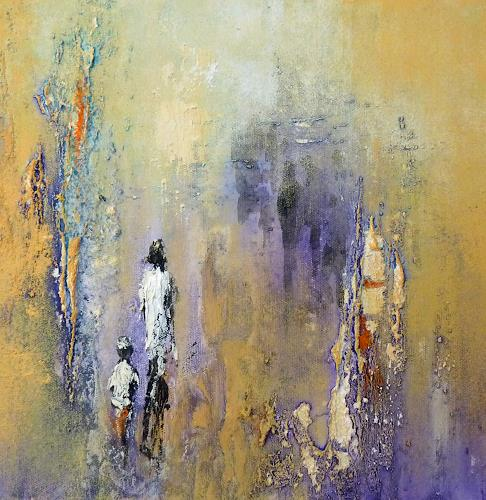 Soraya Hamzavi-Luyeh, Mutter und Kind, Abstract art, People: Group, Abstract Art, Expressionism