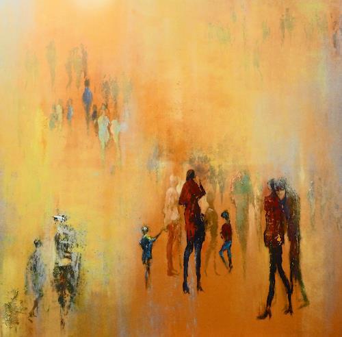 Soraya Hamzavi-Luyeh, Sonnenschein, Abstract art, People: Group, Abstract Art