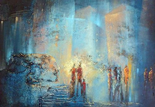 Soraya Hamzavi-Luyeh, Stadt am Abend, People, Abstract art, Abstract Art