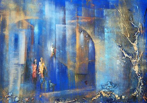 Soraya Hamzavi-Luyeh, N/T, Abstract art, People, Abstract Art, Expressionism