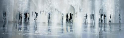 Soraya Hamzavi-Luyeh, Winterzeit, People: Group, Landscapes: Winter, Abstract Art, Expressionism