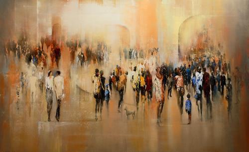 Soraya Hamzavi-Luyeh, Sonntag, People, Abstract art, Abstract Art, Expressionism