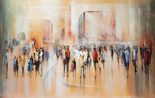 Soraya Hamzavi-Luyeh, Sonntag 2, People, Abstract art, Abstract Art
