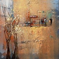 Soraya-Hamzavi-Luyeh-Abstract-art-Landscapes-Autumn-Modern-Age-Abstract-Art