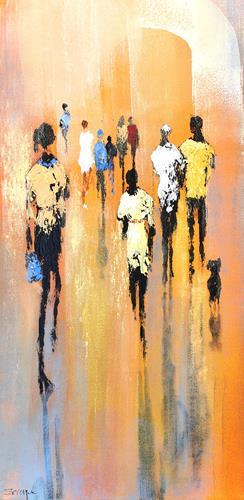 Soraya Hamzavi-Luyeh, Harmonie, People, People: Group, Abstract Art, Expressionism