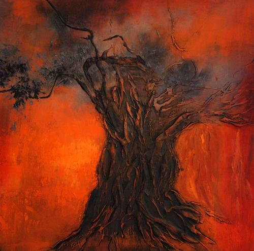 Soraya Hamzavi-Luyeh, Feuer, Plants: Trees, Miscellaneous, Abstract Art, Modern Age