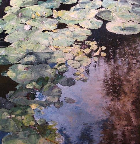 "Neo Impressionism: ""Water Lilies"" By Martina Krupickova, Nature: Water"