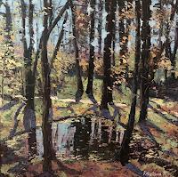 Martina-Krupickova-Landscapes-Spring-Landscapes-Plains-Modern-Age-Expressionism-Abstract-Expressionism