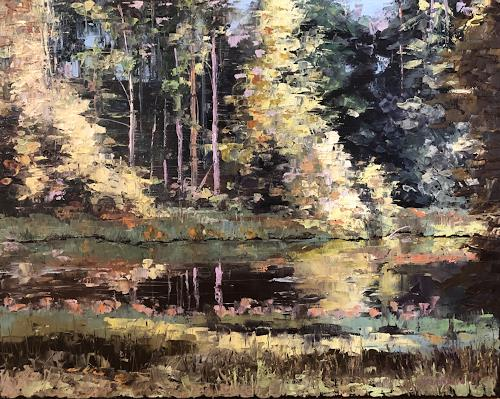 Martina Krupickova, By the River Sazava, Landscapes: Summer, Landscapes: Plains, Abstract Expressionism, Expressionism