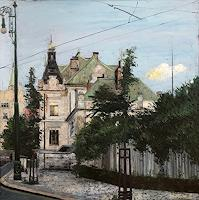 Martina-Krupickova-Architecture-Buildings-Houses-Modern-Age-Impressionism-Neo-Impressionism