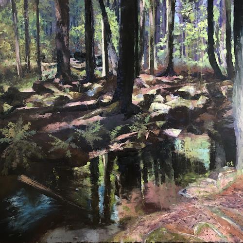 Martina Krupickova, Rozkošné údolícko/ Adorable Valley, Landscapes: Summer, Nature: Wood, Contemporary Art, Expressionism