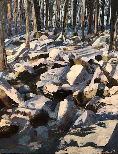 Martina Krupickova, Winter Dream, Landscapes: Winter, Miscellaneous Landscapes, Contemporary Art, Expressionism