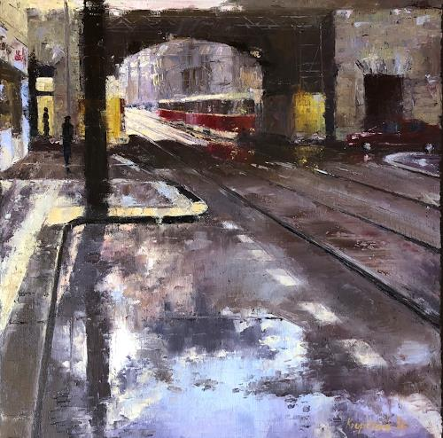 Martina Krupickova, After storm in Karlin in Prague, Miscellaneous Traffic, Miscellaneous, Contemporary Art, Expressionism