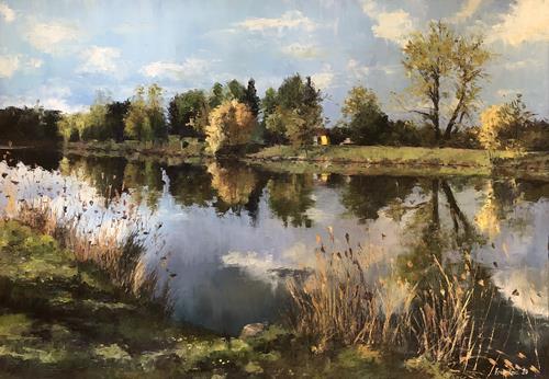 Martina Krupickova, River Elbe, Landscapes: Spring, Miscellaneous Landscapes, Contemporary Art, Expressionism