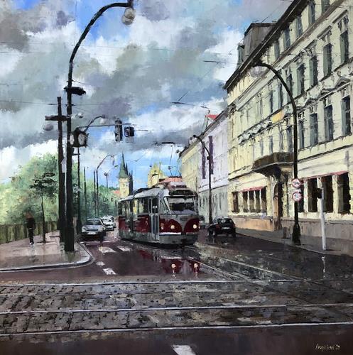 Martina Krupickova, No 2 Smetanovo nábreží, Miscellaneous Traffic, Architecture, Contemporary Art, Expressionism