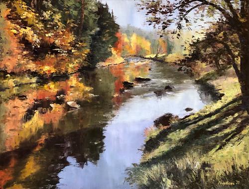 Martina Krupickova, Stvoridla, Landscapes: Autumn, Miscellaneous Landscapes, Contemporary Art, Expressionism