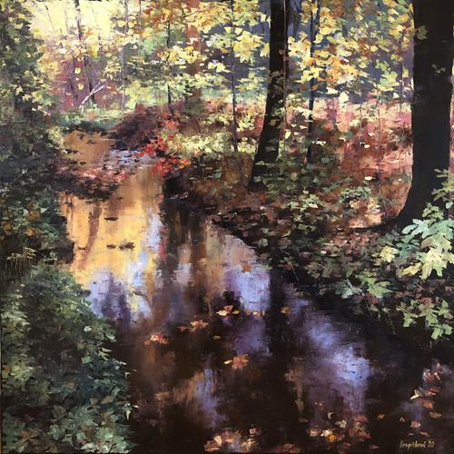 Martina Krupickova, Modranska Ravine, Landscapes: Autumn, Miscellaneous Landscapes, Contemporary Art, Expressionism
