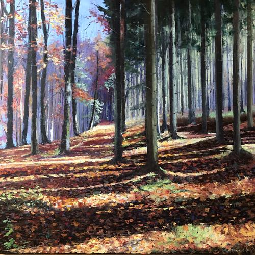 Martina Krupickova, Enchanted forest, Landscapes: Autumn, Miscellaneous Landscapes, Contemporary Art, Expressionism