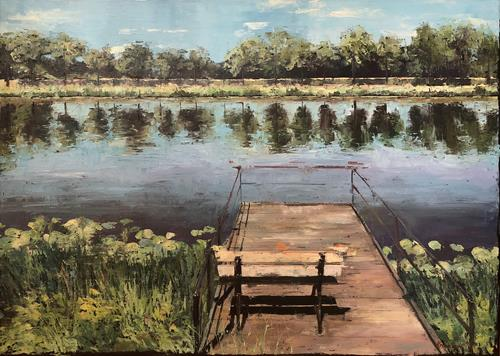 Martina Krupickova, Always remember, Miscellaneous Landscapes, Landscapes: Summer, Contemporary Art, Expressionism