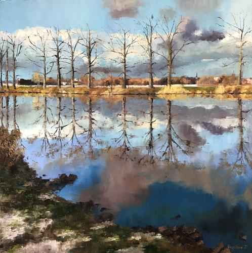 Martina Krupickova, Elbe, Landscapes: Winter, Miscellaneous Landscapes, Contemporary Art, Expressionism