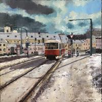 Martina-Krupickova-Miscellaneous-Traffic-Landscapes-Winter-Contemporary-Art-Contemporary-Art