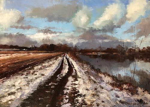 Martina Krupickova, A walk in January, Landscapes: Winter, Miscellaneous Landscapes, Contemporary Art, Expressionism