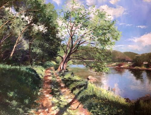 Martina Krupickova, Summertime, Landscapes: Summer, Miscellaneous Landscapes, Contemporary Art, Expressionism