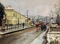 Martina-Krupickova-Landscapes-Winter-Miscellaneous-Traffic-Contemporary-Art-Contemporary-Art