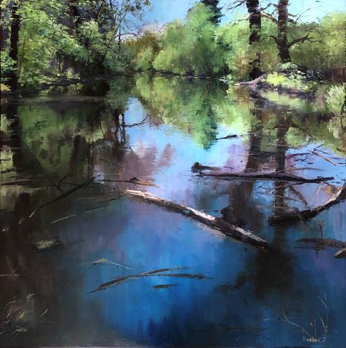 Martina Krupickova, Spring near Ostrá, Landscapes, Landscapes: Spring, Contemporary Art, Expressionism