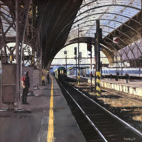Martina Krupickova, Where to this time?, Traffic: Railway, Miscellaneous Traffic, Contemporary Art, Expressionism