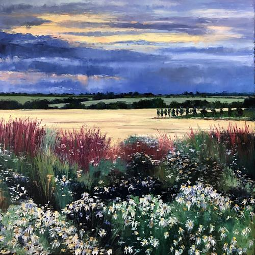 Martina Krupickova, Summer, Landscapes: Summer, Miscellaneous Landscapes, Contemporary Art, Expressionism
