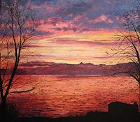 M. Krupickova, Sunrise over lake Geneva