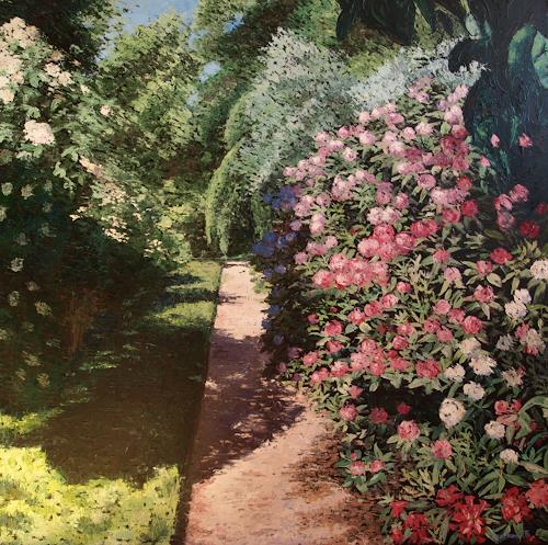 Martina Krupickova, Botanic garden, Nature: Miscellaneous, Miscellaneous Landscapes, Neo-Impressionism, Expressionism