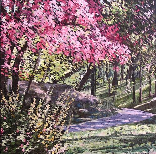 Martina Krupickova, Spring, Miscellaneous Landscapes, Nature: Miscellaneous, Neo-Impressionism, Expressionism