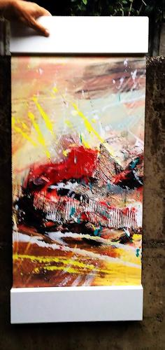 "Josef Rabitsch, WVZ 020/2016 - ""so geht Leidenschaft"" gerahmt, Abstract art, Movement, Action Painting"