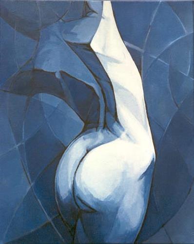 Sime - Mladen Simunovic, N/T, People: Women, Erotic motifs: Female nudes