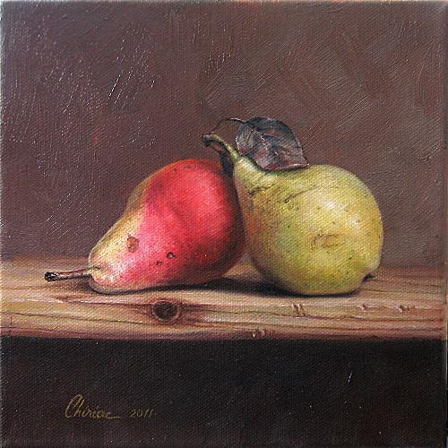 Daniel Chiriac, Still life - pears, Still life, Harvest, Realism