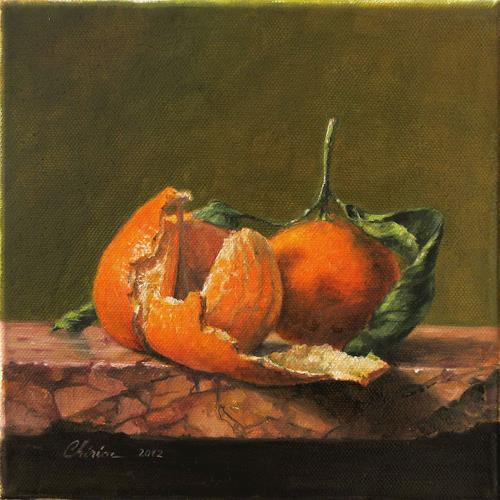 Daniel Chiriac, Clementines hug, Still life, Harvest, Realism, Expressionism
