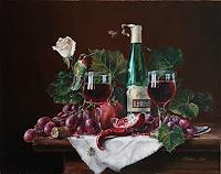 "Daniel Chiriac, Commissioned still life painting ""Passion of Tim"